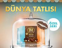 Poster for algida's new dessert series