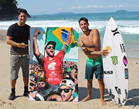 Filipe Toledo Surfer PRO - Acrilic on Canvas 100x150cm