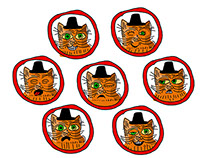LUBOK CAT: character for mobile app
