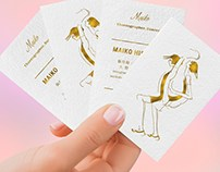 GOLD FOIL CARDS WITH COLORED EDGES
