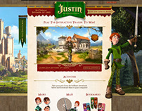 Justin & the Knights of Valour promo-site