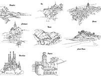 Line Drawings for Las Heras book.
