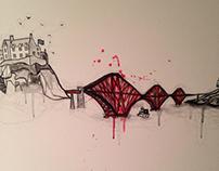 Shiv Illustration / Edinburgh Canvas Commission