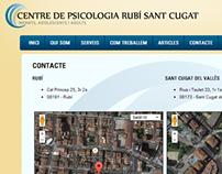 Centre de Psicologia Rubí Sant Cugat webpage 2011