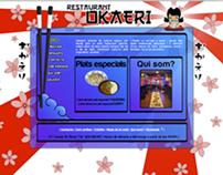 Japanese Restaurant Okaeri Webpage 2009