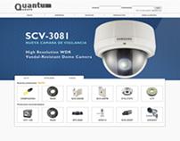 Webpage Grupo Quantum CCTV 2012
