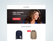 Freebies & tutorial - eCommerce email template