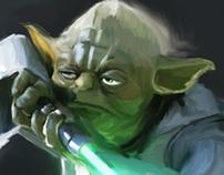 Digital Painting of Master Yoda