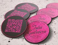 Julia Gaidasova - Makeup Artist   Business Card
