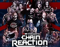 WCPW - Chain Reaction graphics.