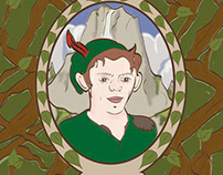 Peter Pan Art Nouveau Poster