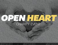 Open Heart Charity Event Flyer Template