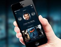 iOS7 Profile Screen - Moviens