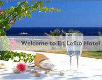 """Web Design """"En Lefko Hotel"""""""