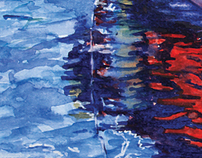 Water Reflections Watercolour Paintings by Chinh