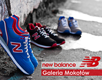 New Balance store promotional materials