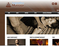 Legendary Massage (website design)