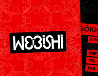 Webishi business card design