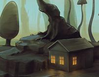 Lonely Mushroom House