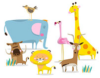 Savanna Animals Wallstickers
