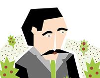 """Ilustration """"Man in a garden"""""""