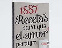 Libro 1887 recetas. Cafés La Estrella.