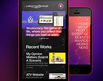 CarnationGroup mobile website