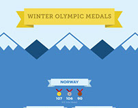 Winter Olympic Medals Infographic