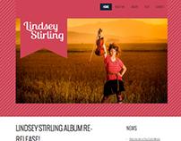 Lindsey Stirling fan page website prototype