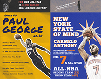 NBA Poster Vintage Style