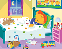 "Cbeebies weekly, ""Get well soon"" illustration"