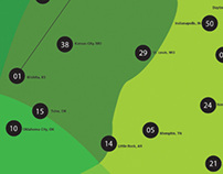Infographic Design: USA State Allergy Capitals 2013