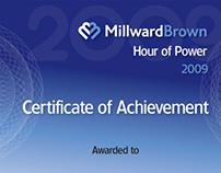 Employee Certificates for Millward Brown