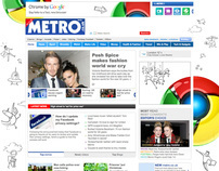Google Chrome - Metro Site Takeover Campaign