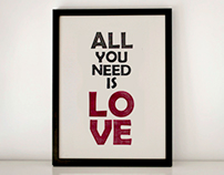 All you need is love_letterpress