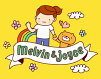 "LINE Sticker _ ""Melvin and Joyce"""