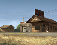 Old Gas Station - Mood Study