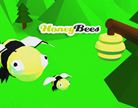 HoneyBees Lowpoly illustartion