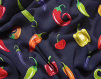 Chili Pepper Pattern - Portfolio Project