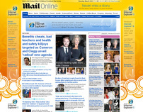 Microsoft IE8 - MailOnline Homepage Takeover