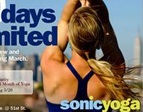 Sonic Yoga Marketing Postcards