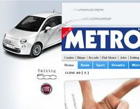 Fiat 'Talking' 500 - Metro Homepage Takeover
