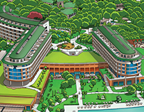 Voyage Belek Golf&SPA Information Map Illustration