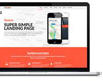 Tesoro - Super Simple Landing Page