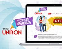 Campanha Vestibular Programado UNIRON 2013