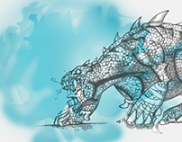 lizard-art
