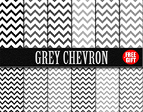 Grey Chevron paper scrapbook printable fabric gift wrap