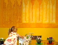 Dining Space Wall Mural, after an italian artist