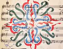 Calligraphy patterns