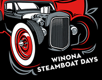Steamboat Days Car Show T-Shirt and Poster Art